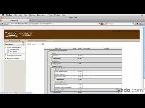 Understanding the Moodle course interface | lynda.com tutorial