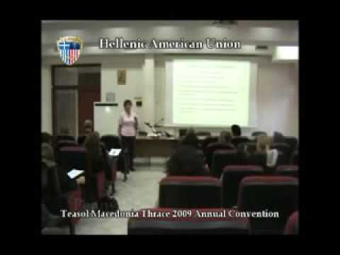 Tesol Macedonia Thrace Convention 2009 Video Clip