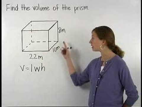 Volume of a Prism - YourTeacher.com - Math Help