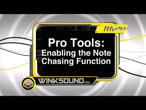 Pro Tools: Enabling the Note Chasing Function | WinkSound