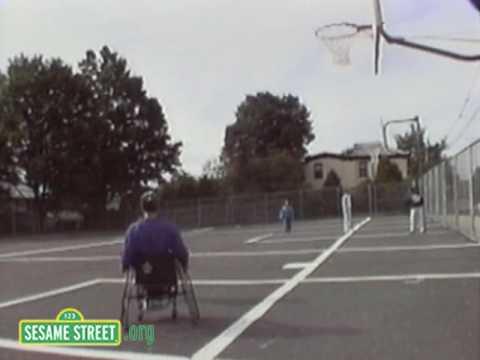 Sesame Street: Practicing Basketball
