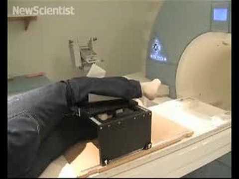 Pneumatic robot arranges limbs for MRI 'sweet spot'