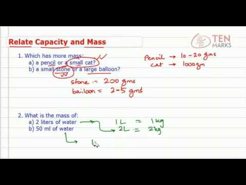 Relate Capacity and Mass