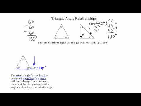 Triangle Angle Relationships
