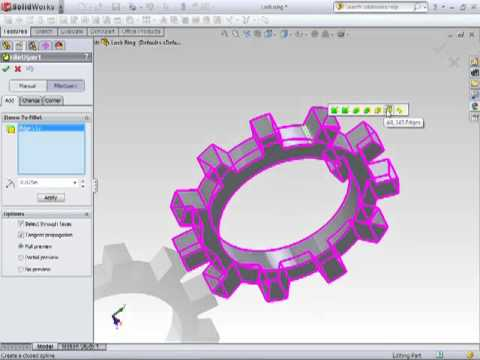 Solidworks Tutorial - Chamfers Fillets and The FilletXpert