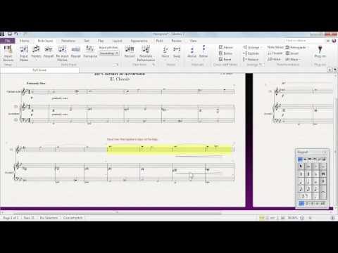 Transposing music notes in Sibelius 7 | lynda.com tutorial