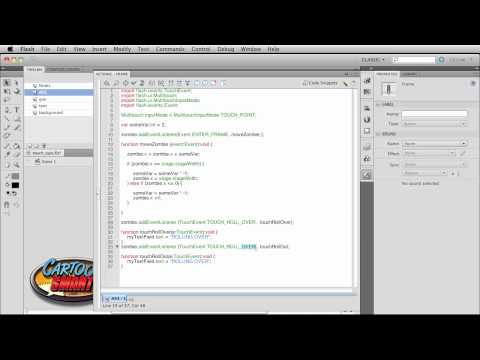 Part3: Flash CS5 Tutorial on Actionscript 3 Touch Events for Mobile or Touch-Enabled Devices