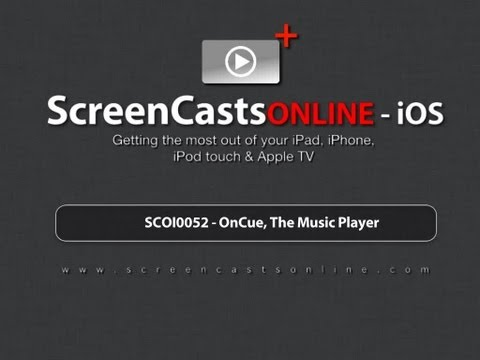 Trailer for SCOI0052 - OnCue, The Music Player for iOS