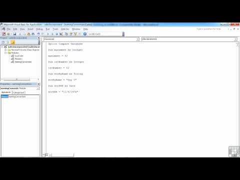 VBA for Access Tutorial | Standard Naming Conventions for Variables | InfiniteSkills