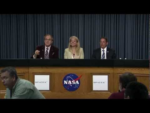 SPACEX/NASA DISCUSS LAUNCH ABORT OF FALCON 9 ROCKET