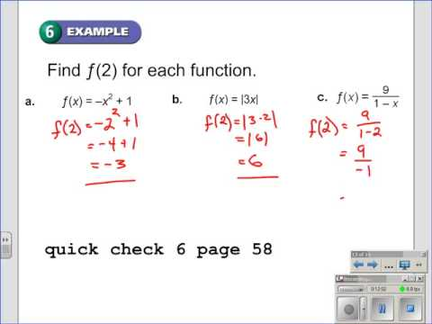 Relations and Functions - Vertical Line Test and Function Notation