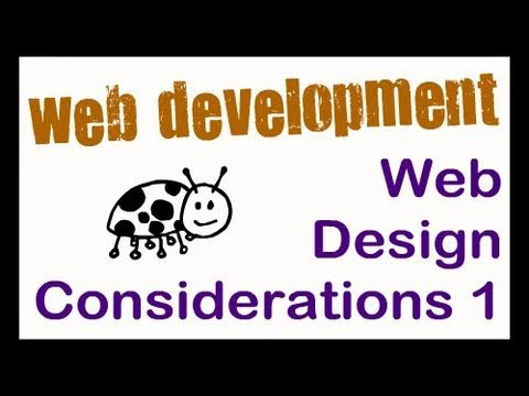 Web Design Considerations Part 1