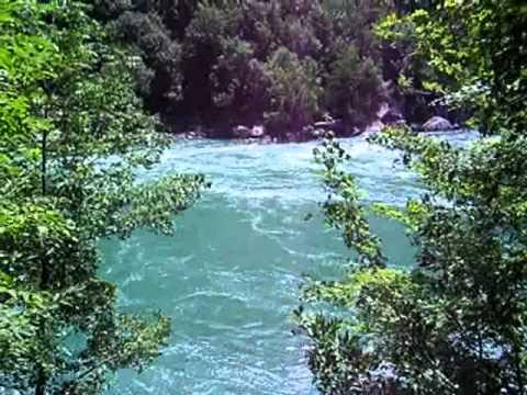 The waters of the Niagara River from Niagara Glen Park