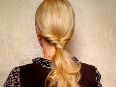 Ponytail hairstyles for long hair tutorial 5 minutes for school Cute easy everyday braid winter 2011