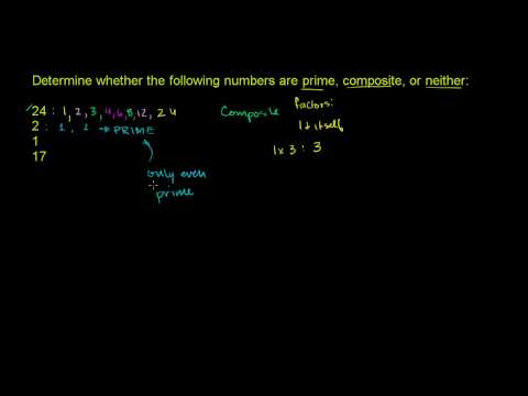 Recognizing Prime Numbers
