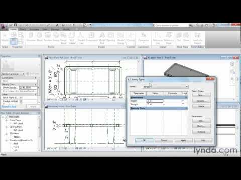 Revit Architecture: How to use the Blend tool | lynda.com tutorial