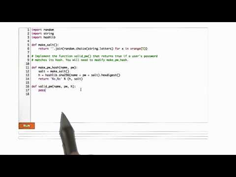 Validating Salts - CS253 Unit 4 - Udacity