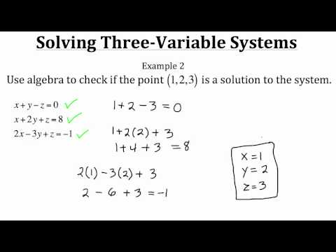 Solving Three-Variable Systems