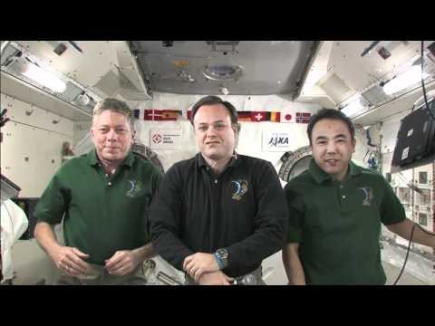 Station Crew Interviewed by TV, Web Media