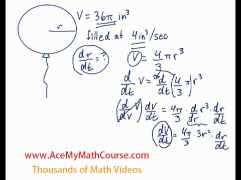 Related Rates (Derivatives) - Balloon Question