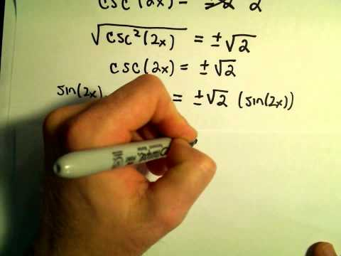 Power Reducing Formulas for Sine and Cosine, Example 2
