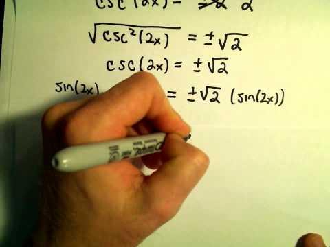 Power Reducing Formulas for Sine and Cosine, Example 2