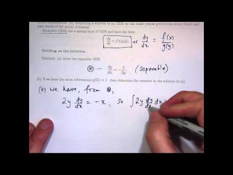 Separable differential equations