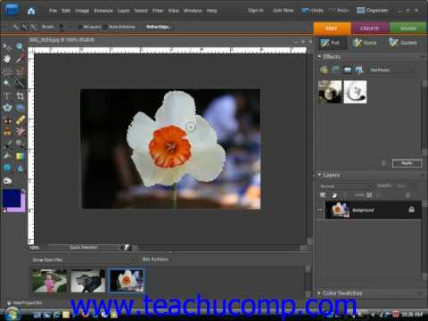Photoshop Elements Tutorial The Quick Selection Tool Adobe Training Lesson 8.7