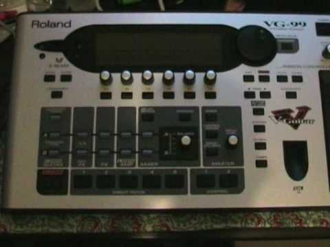 "Roland VG-99 - Pushing the ""Power"" button!"