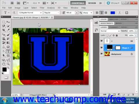Photoshop CS5 Tutorial Creating Knockouts Adobe Training Lesson 10.7