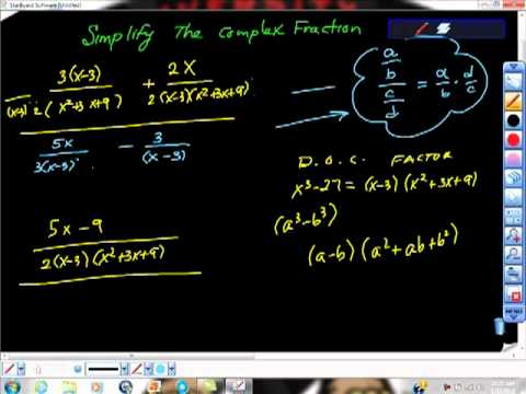 Simplify the Complex Fraction College Algebra