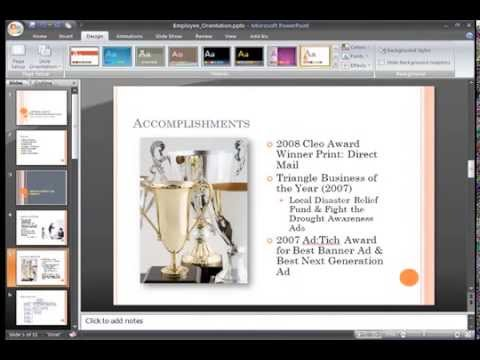 PowerPoint 2007: Using the Slide Master Part 1
