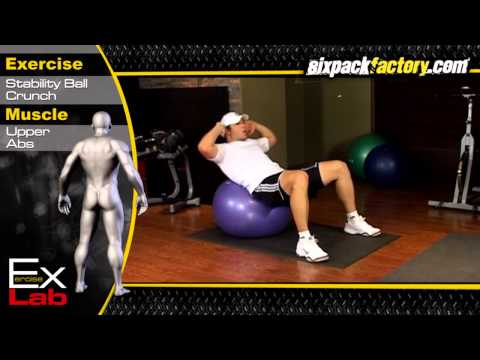 Stability Ball Crunch : Best Ab Exercises