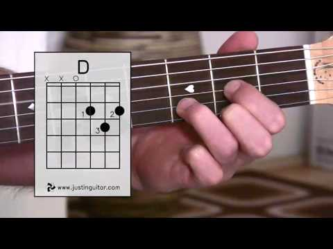 The D Chord (Guitar Lesson BC-111) Guitar for beginners Stage 1