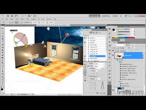 Photoshop tutorial: Adjusting light in a 3D scene | lynda.com