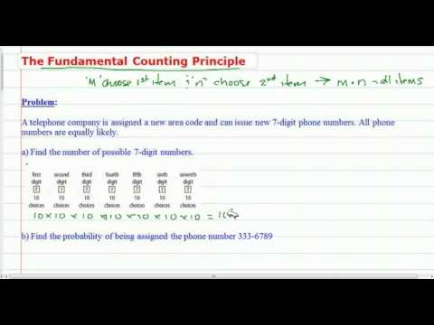 The Fundamental Counting Principle of Probability (Numbers Application)