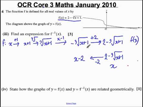 Q4(iii)(iv) Core 3 OCR Maths January 2010.mp4