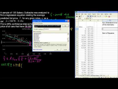 What is the Confidence Interval for a Regression Equation - Business Statistics Tips
