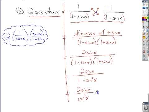 Trigonometry - Verifying Identities