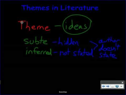 Using Themes to Analyze Literature