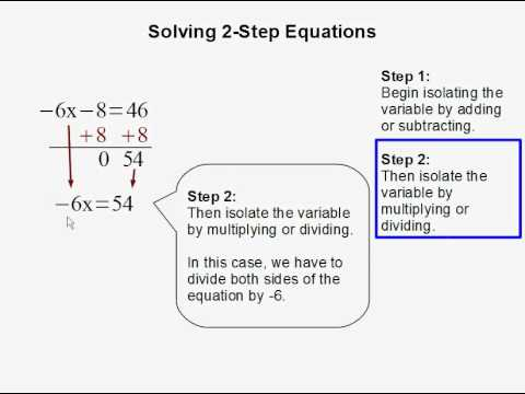 Solving a 2-step Equation