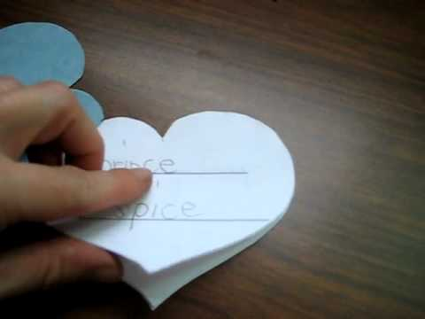 "Valentine: blue, heart-shaped book for spelling practice. Focus on soft ""c"" sound."