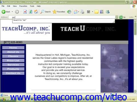 Windows XP Tutorial Internet Security Microsoft Training Lesson 7.5