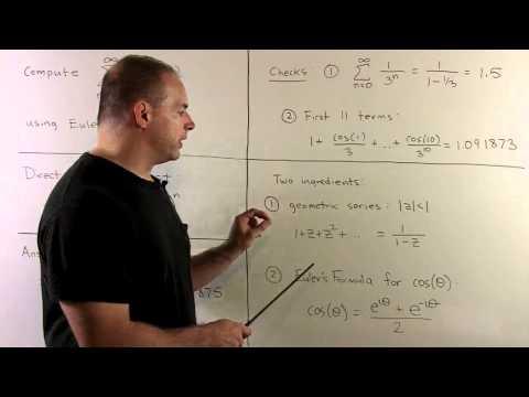 Sum of Series cos(n)/3^n