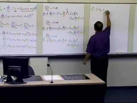 Polynomial Regression Model: Derivation: Part 2 of 2
