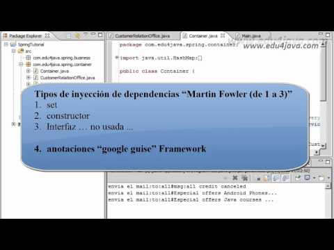 Spring Framework 2 Dependency injection Video Tutorial