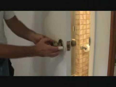 """Removing a privacy handle door """"knob"""""""