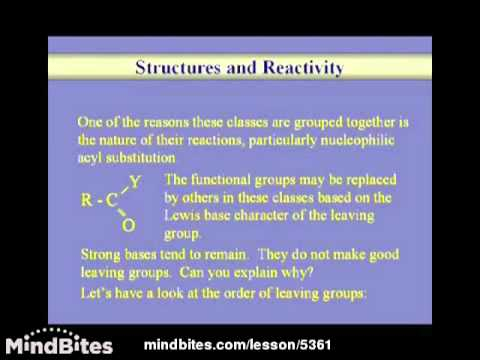 Organic Chemistry: Derivatives of Acids