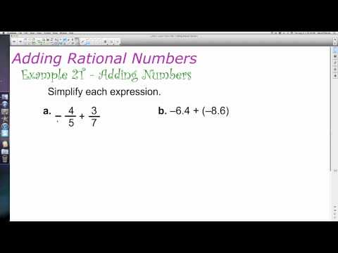 Unit 1 Lesson Topic 2 - Part 1 - A Review of Computation with Rational Numbers