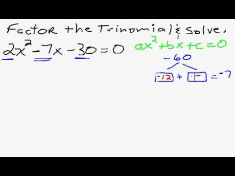 Solve a Quadratic Equation by Factoring
